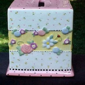 Rare Vintage Mary Engebreit Meadows Tissue Box!